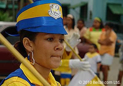 Belize cheerleader in southern Belize.