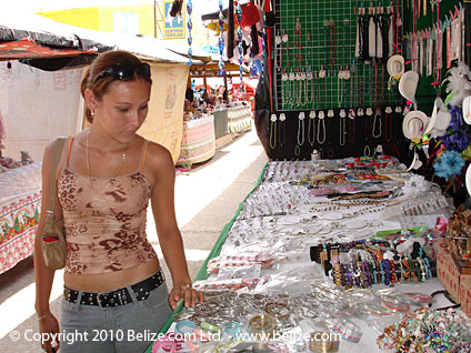 Guatemala Girl shopping at the maket at Melchor de Mencos, Guatemala on the Belize border.