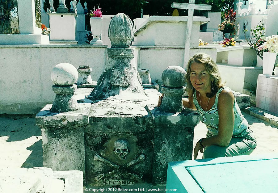 The grave of Pirate Fermin Mundaca at Isla Mujeres, Mexico,
