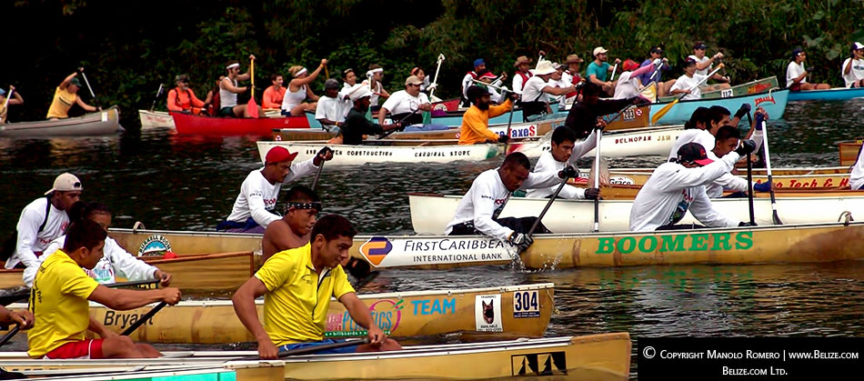 The annual Ruta Maya Belize Canoe Race brings together professional and amateur paddlers from Central and North America and Europe every March.