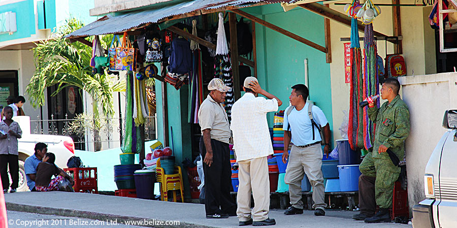 Hanging out in downtown Punta Gorda, Toledo, Belize.