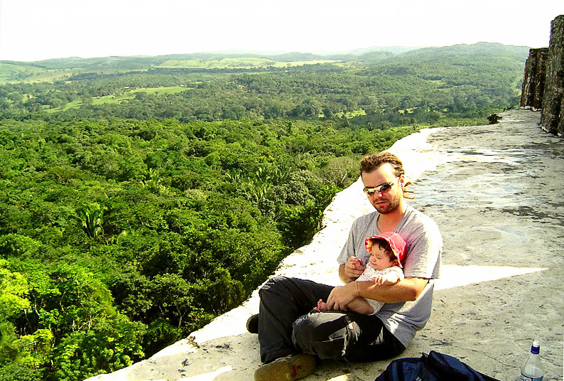 View from atop El Castilo at Xunantunich Belize